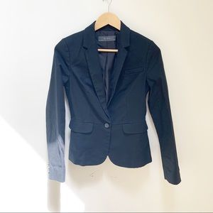 The limited black blazer front button XS tall